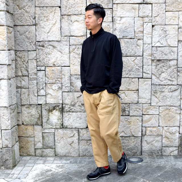 AURALEE(オーラリー)/ ELASTIC HIGH GAUGE SWEAT HALF ZIP P/O -BLACK- #A20AP01NU(9)