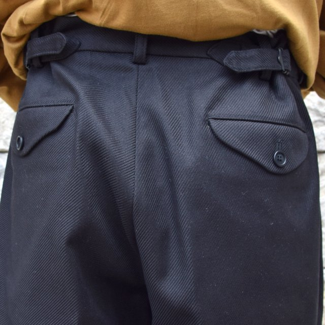 【2020】blurhms(ブラームス)/ SUPER SURGE WIDE SLACKS -BLACK- #BHS20F002(9)