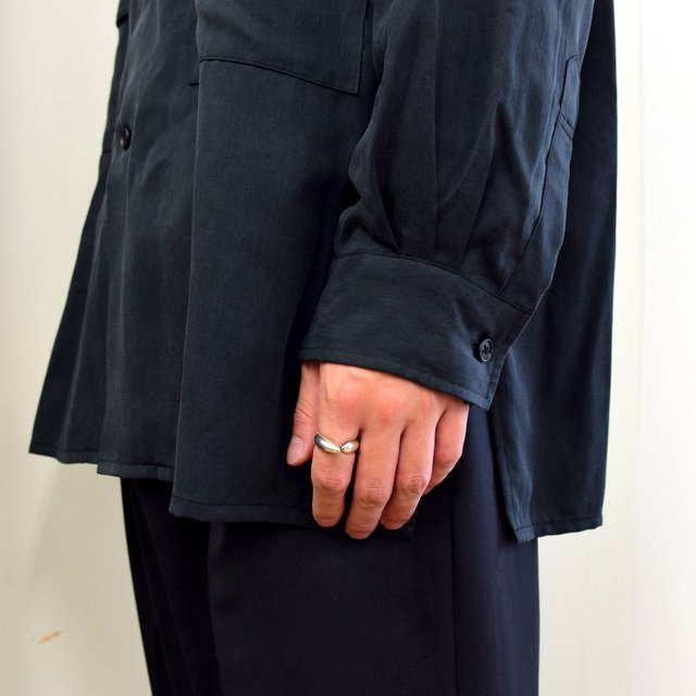 【2020】YOKE(ヨーク)/ BIG FLAP LONG SHIRTS -BLACK- #YK20AW0144SH(9)