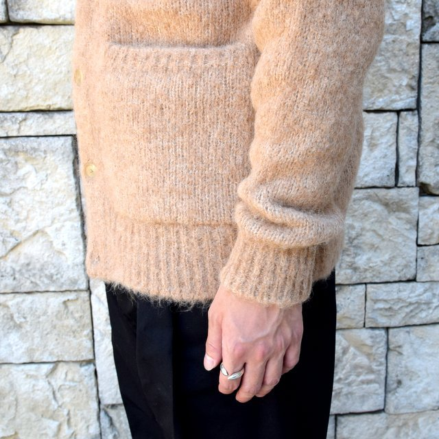 【2020】 AURALEE(オーラリー)/ ALPACA WOOL SUPER LIGHT KNIT BIG CARDIGAN -TOP BEIGE- #A20AC01AW(9)