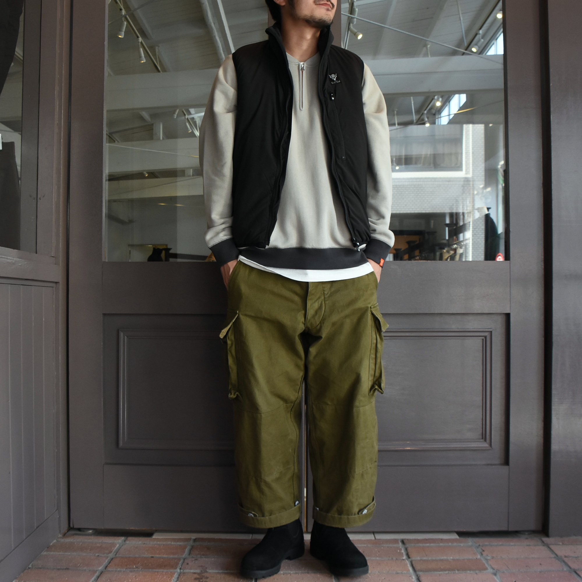 【2020】South2 West8(サウスツーウエストエイト)Insulator Vest-Peach Skin-BLACK- #HM813(9)