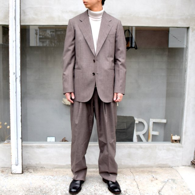 AURALEE(オーラリー)/ BLUEFACED WOOL WIDE SLACKS -TOP BROWN- #A20AP03BH(9)