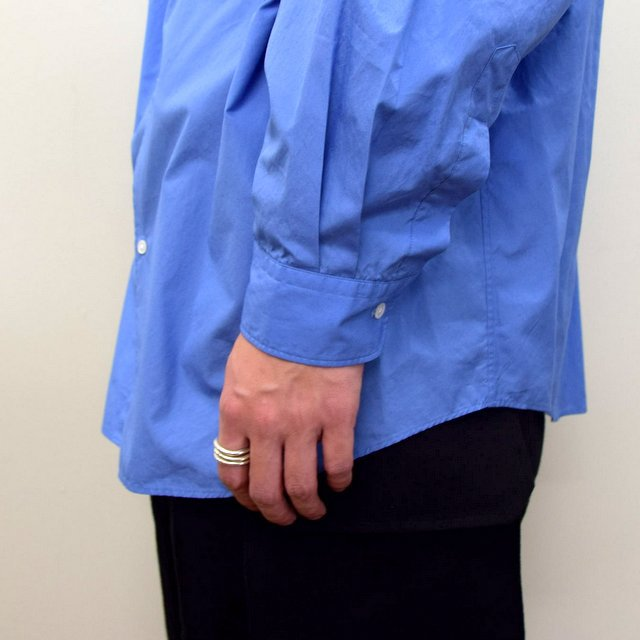 Graphpaper (グラフペーパー)/ BROAD OVERSIZED L/S BAND COLLAR SHIRT -BLUE- #GM211-50111B-GR(9)