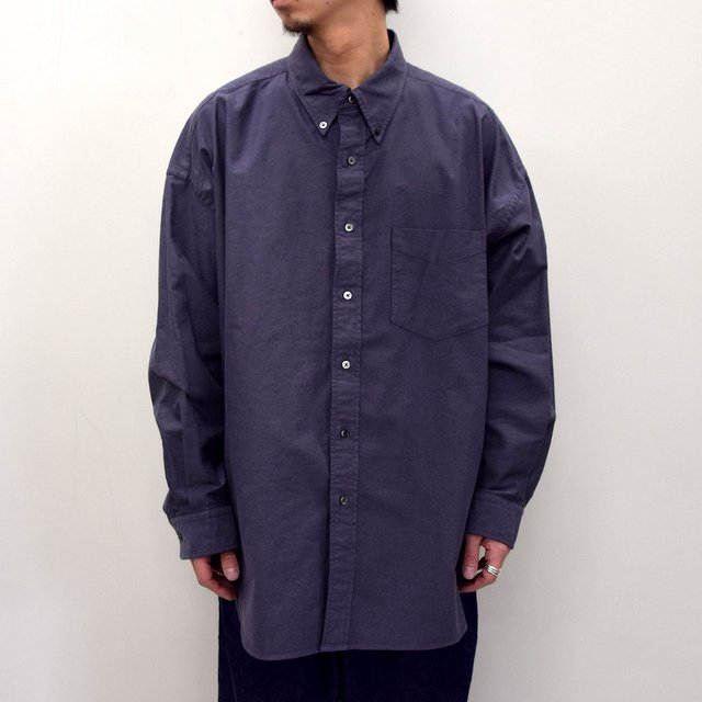 Graphpaper (グラフペーパー)/ OXFORD OVERSIZED B.D SHIRT -2色展開- #GM211-50113B(9)
