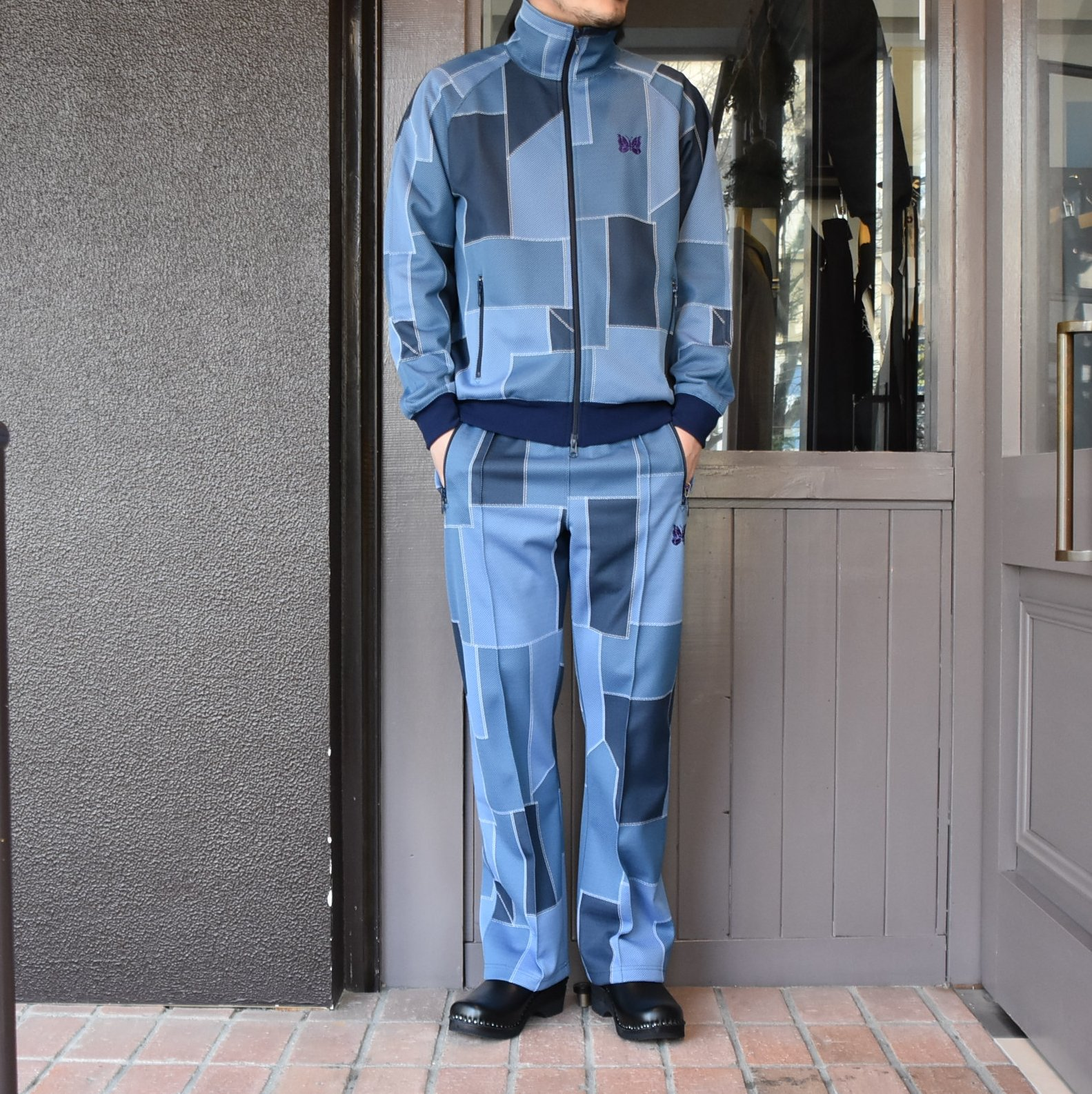 [2021]NEEDLES(ニードルス) TRACK PANT POLY JQ.-PATCHWORK- #IN198(9)
