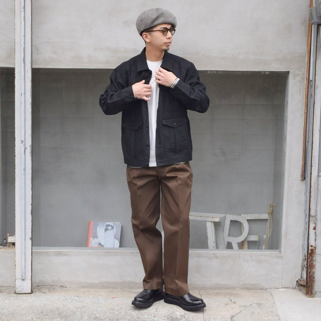 BROWN by 2-tacs (ブラウンバイツータックス)/ Straight slacks -BROWN- B25-P005(9)
