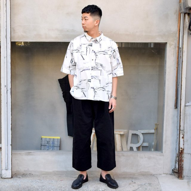 toogood(トゥーグッド)/ THE GARDENER SHIRT SHORT PRINTED POPLIN -PLOUGHED FIELDS-(9)