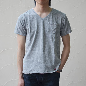 Stevenson Overall Co.(スティーブンソン・オーバーオール) 2 Pac V-neck -Heather Gray-