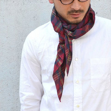 【40%OFF SALE】ts(s) (ティーエスエス) Indian Madras Plaid Cloth -(45)Red-