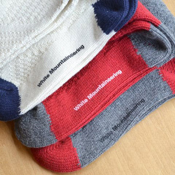 White Mountaineering(ホワイトマウンテニアリング) Cable Pattern Middle Knit Socks -3色展開-