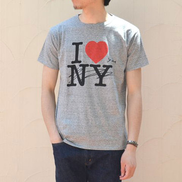 【40% off sale】WHITE LINE(ホワイトライン) WL × Kurry I Love You T-Shirt -heather grey-