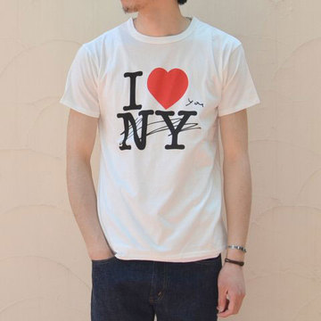 【40% off sale】WHITE LINE(ホワイトライン) WL × Kurry I Love You T-Shirt -white-