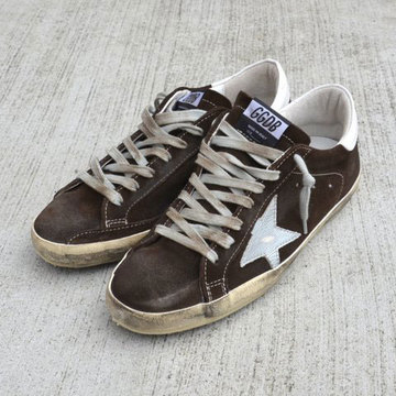 GOLDEN GOOSE (ゴールデングース) SNEAKER SUPER STAR -(A21)COFFEE SUEDE-【Z】