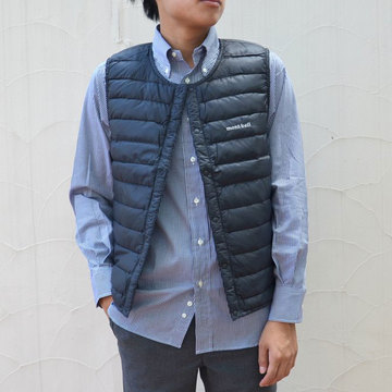 mont-bell(モンベル) Superior Down Round Neck vest Men's -BK(ブラック)-