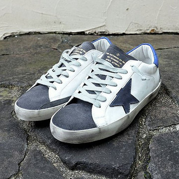 GOLDEN GOOSE (ゴールデングース) SNEAKER SUPER STAR -(A16)ICE SUEDE/OCEAN STAR-