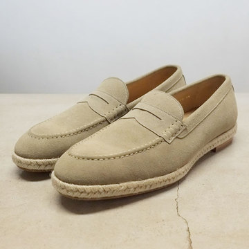 【50% OFF SALE】foot the coacher (フットザコーチャー) COIN LOAFER(ESPADRIILE) -LIGHT BEIGE-