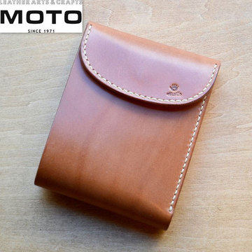 MOTO(モト) 三つ折ショートウォレット W7 -BROWN-