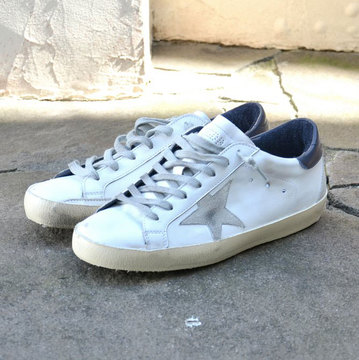 GOLDEN GOOSE (ゴールデングース) SNEAKER SUPER STAR -(A7)WHITE BLUE CREAM SOLE- #GCOMS590-A7
