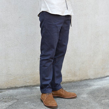 S.E.H KELLY(エス・イー・エイチ・ケリー) LANCASTRIAN HEAVY COTTON TWILL PANT -(39)NAVY-