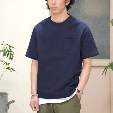 FLISTFIA(フリストフィア) Short Sleeve Sweat -NAVY-【S】