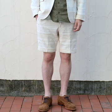 KENNETH FIELD (ケネスフィールド)   CLASSIC SHORTS INDIA CLOTH-OFF WHITE-
