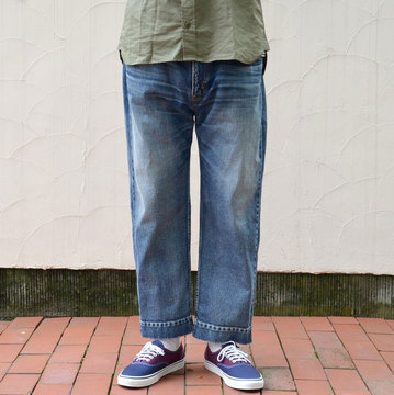YOUNG&OLESEN(ヤングアンドオルセン) big cinch jeans-WASHED OUT-