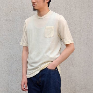 FLISTFIA(フリストフィア)/Washable Wool T-shirt -Cream-