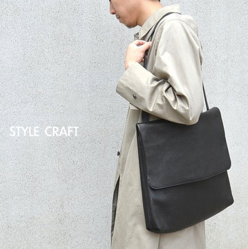 STYLE CRAFT (スタイルクラフト) SHOULDER BAG LARGE -BLACK(BUFFALO)-