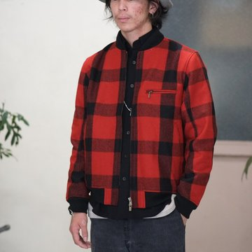 NEEDLES (ニードルス)  BB JACKET [Melton Buffalo Plaid] -RED- #GG029