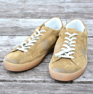 GOLDEN GOOSE (ゴールデングース) SNEAKER SUPER STAR -(A59)KAKI SUEDE- #G29MS590