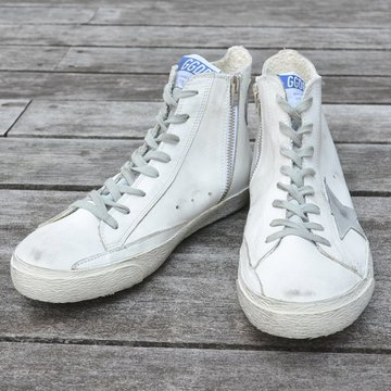 GOLDEN GOOSE (ゴールデングース) SNEAKER FRANCY -(G3)WHITE SILVER LEATHER- #GCOMS591