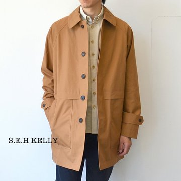 S.E.H KELLY(エス・イー・エイチ・ケリー) / BRITISH VENTILE COAT -(82)CINNAMON- #5021048