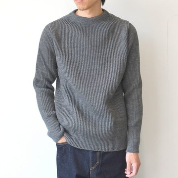 ANDERSEN-ANDERSEN(アンデルセン アンデルセン) SAILOR SWEATER CREW NECK(5Gauge) -GREY- #AD-002