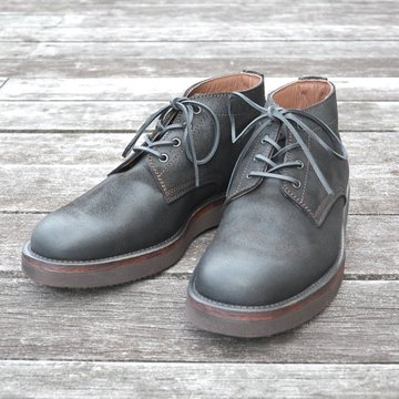 【別注】 MOTO(モト)/ 5 inches Lace-Up Boots(Velours) -BLACK- #16361
