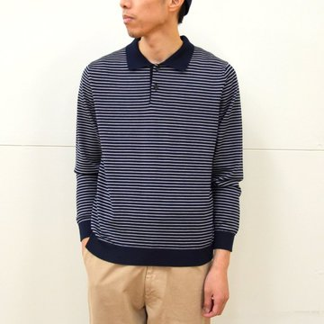 【40% off sale】 niuhans(ニュアンス)/ Pinstripe Polo Sweater -Navy- #KN53