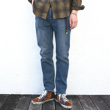 【50% off sale】GOLDEN GOOSE (ゴールデングース) DENIM GOLDEN HAPPY-(A4)INDIGO GREY WASHED- #G29MP509
