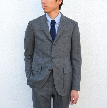 KENNETH FIELD (ケネスフィールド) 50s SPORTS COAT FOX GLEN PLAIDS -GREY-