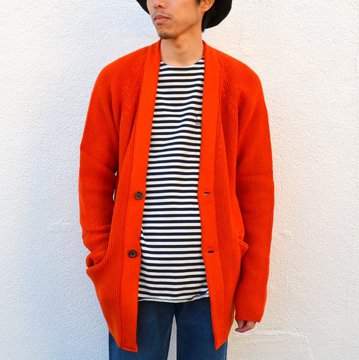【40% off sale】WHITE LINE(ホワイトライン)/WL 5G Cotton Long Cardigan -ORANGE- #WLK3102