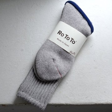 RoToTo(ロトト) LOOSE PILE SOCKS-M.GRAY- #R1014