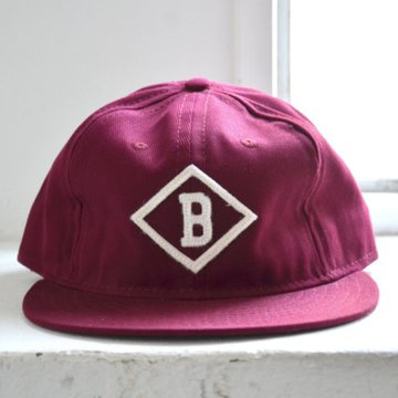 EBBETS FIELD FLANNELS(エベッツ・フィールド・フランネルズ) 6PANEL BISMARCK CHURCHILLS 1935(COTTON)-BURGUNDY-