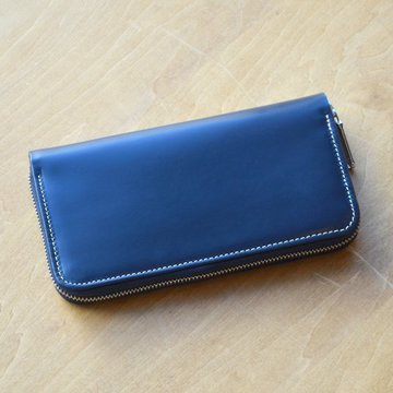 Whitehouse Cox (ホワイトハウスコックス) /  LONG ZIP WALLET BRIDLE S2622 -NAVY- #S2622