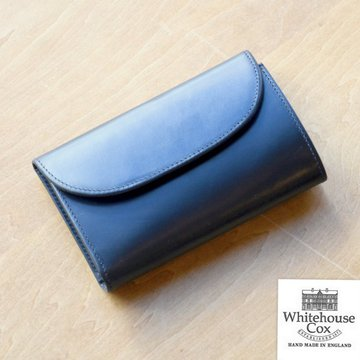 Whitehouse Cox (ホワイトハウスコックス)  3FOLD WALLET BRIDLE S7660 -BLACK-