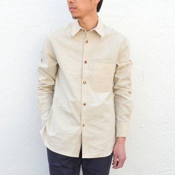 【40% off sale】S.E.H KELLY(エス・イー・エイチ・ケリー) /  LANCASTRIAN DESERT COTTON KELLY COLLAR SHIRT-(80)BEIGE- #5116023
