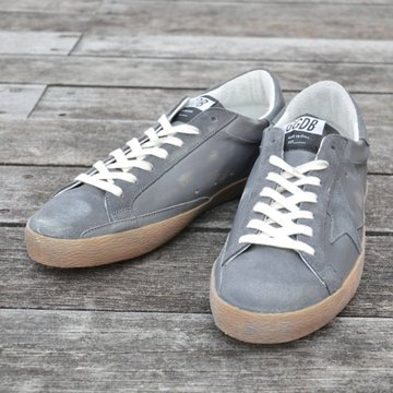 GOLDEN GOOSE (ゴールデングース) SNEAKER SUPER STAR -(B22)GREY SUEDE- #G30MS590