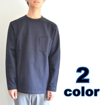 【17 AW】 niuhans(ニュアンス)/ Heavyweight Cotton Fleece L/S Pocket Tee -2色展開-