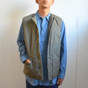 orSlow(オアスロウ)/ COTTON SHELL VEST -GREIGE- #03-9010-55