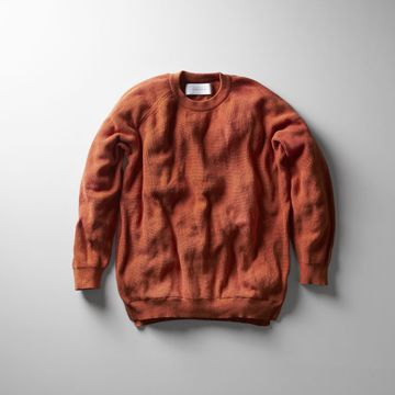 【30% off SALE】【18 SS】Curly(カーリー) ASSEMBLY CREW KNIT -ORANGE- #181-35012