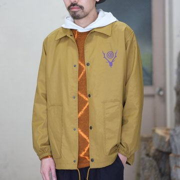 South2 West8(サウスツーウエストエイト) Coach Jacket [Nylon Taffeta/Acrylic Coating] -CAMEL-  #CH773