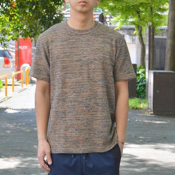 【40% OFF SALE】 ts(s) (ティーエスエス) Melange Cotton Jersey Crew Neck T-shirt -(35)Brown- #ET38XC11