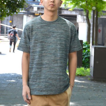 【40% OFF SALE】 ts(s) (ティーエスエス) Melange Cotton Jersey Crew Neck T-shirt -(55)Green- #ET38XC11